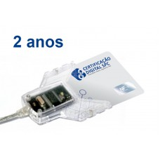 e-CPF - A3 - 2 anos (cartão+leitora)