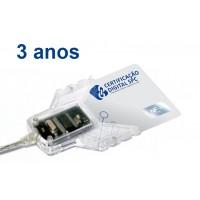 e-CNPJ -  A3 - 3 anos (cartão + leitora)