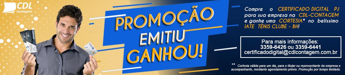 PROMOÇÃO EMITIU, GANHOU